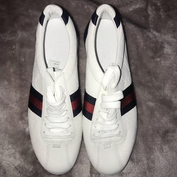 a95deb7ea Gucci Shoes | Ssima Leather Laceup Sneaker | Poshmark